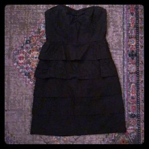 JCrew Black Strapless Dress! Size 0